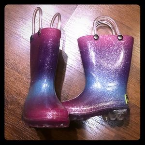 Western Chief Light Up Boots. Size 5 Toddler